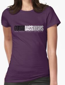 Guitar, Bass, Drums, Worn Well. Womens Fitted T-Shirt