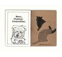 Max & Three Cats Art Print