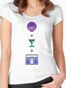Formula for a Pre-party in Color! Women's Fitted Scoop T-Shirt