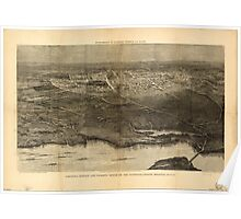 Panoramic Maps Saratoga Springs and vicinity scene of the inter-collegiate regatta see page 626 Poster