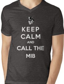 Keep Calm And Call The Men In Black 2 Mens V-Neck T-Shirt