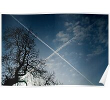 """Scottish Sky in Blue "" Poster"