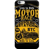 Live to Ride, Ride to Live, NYC Motor Race motorbike iPhone Case/Skin