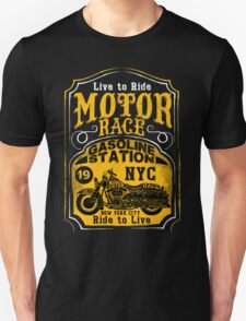 Live to Ride, Ride to Live, NYC Motor Race motorbike T-Shirt