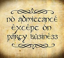 No admittance except on party business by augustinet
