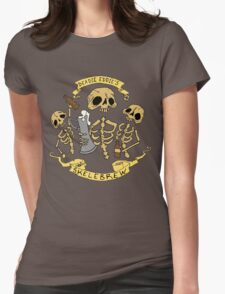 Spooky Fun Beer Label Womens Fitted T-Shirt