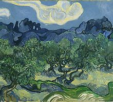 Olive Trees with the Alpilles in the Background by Vincent van Gogh by Robert Partridge