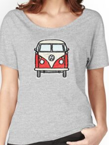 Red White Campervan Worn Well Women's Relaxed Fit T-Shirt