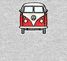 Red White Campervan Worn Well Unisex T-Shirt
