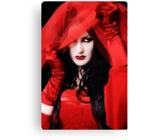 Portrait of Lydia (Gothic Girls) Canvas Print