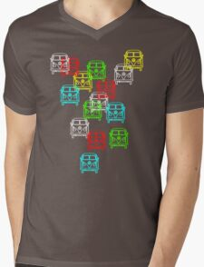 Multi Colour Campervan Mens V-Neck T-Shirt