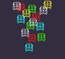 Multi Colour Campervan Unisex T-Shirt
