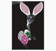 Easter Bunny Cat Kids Tee