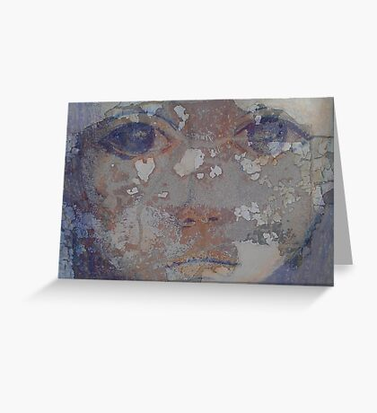 Girl In The Wall Greeting Card