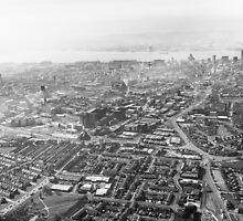 Hazy Liverpool Aerial by William Lee