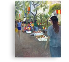 Fiesta Sidewalk Canvas Print