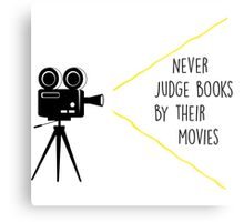 Never Judge Books By Their Movies Metal Print