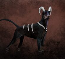 Houndoom- Pokemon Concept Digital Painting by JamieTifft
