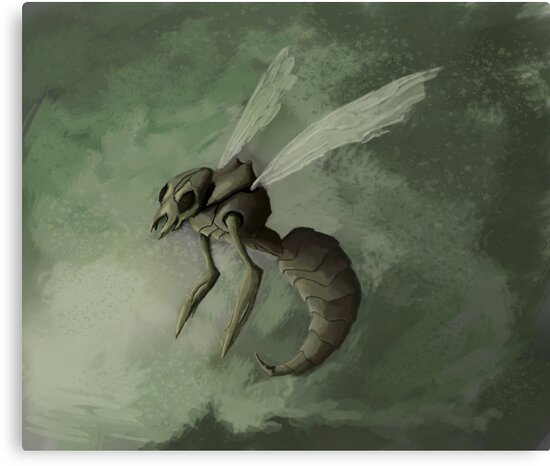 Beedrill- Pokemon Concept Digital Painting by JamieTifft