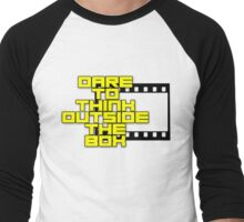 Dare to Think Outside the Box Men's Baseball ¾ T-Shirt