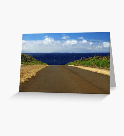 The Road To Maui Greeting Card