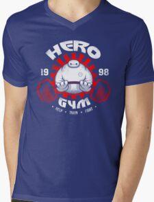 Hero gym Mens V-Neck T-Shirt