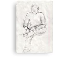 Artist Sketching Canvas Print