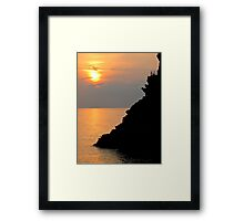 sunset in Cinque Terre Framed Print