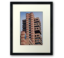 Banded Towers Framed Print