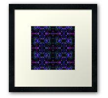 Organic Symmetry: Cool Berry Fractals Framed Print
