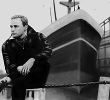 On the Waterfront Marlon Brando Digital Painting by JamieTifft