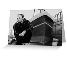 On the Waterfront Marlon Brando Digital Painting Greeting Card
