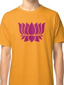 lotus flower zen yoga Classic T-Shirt
