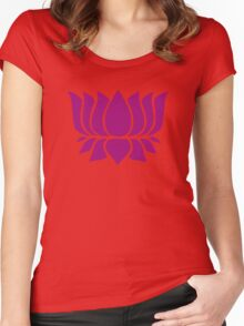 lotus flower zen yoga Women's Fitted Scoop T-Shirt