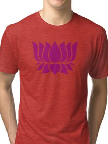 lotus flower zen yoga Tri-blend T-Shirt
