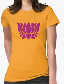lotus flower zen yoga Womens Fitted T-Shirt