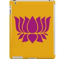 lotus flower zen yoga iPad Case/Skin