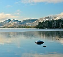 Eagle Lake, Morning Reflections, Acadia NP, ME by Dan Hatch