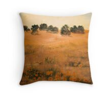 California Hills-Oil Painting Throw Pillow