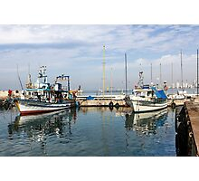 Israel, Jaffa, Fishing boats in the ancient port Photographic Print