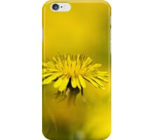 Yellow on Yellow Dandelion Art iPhone Case/Skin