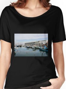 Israel, Jaffa, Fishing boats in the ancient port Women's Relaxed Fit T-Shirt
