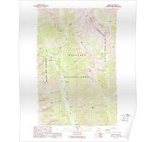 USGS Topo Map Washington State WA Trinity 244343 1988 24000 Poster
