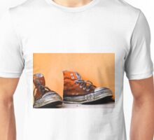 Old used and soiled orange Converse All Star shoes Unisex T-Shirt