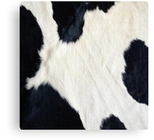 Cowhide Black and white Canvas Print