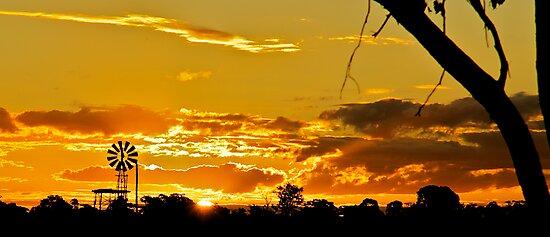 Sunset Windmill 1 by D-GaP