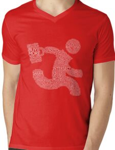 Versus (Red) Mens V-Neck T-Shirt