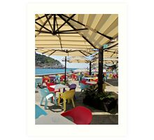 sunshade in Portovenere Art Print