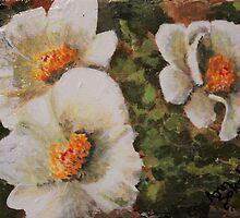 White Floral Trio  by Sokolovich