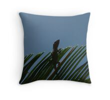 Anole Watching From A Sago Throw Pillow
